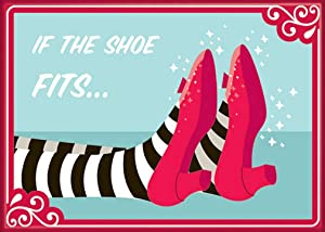"Ata-Boy Wizard of Oz Ruby Slipper 'If The Shoe Fits' 2.5"" x 3.5"" Magnet for Refrigerators and Lockers"
