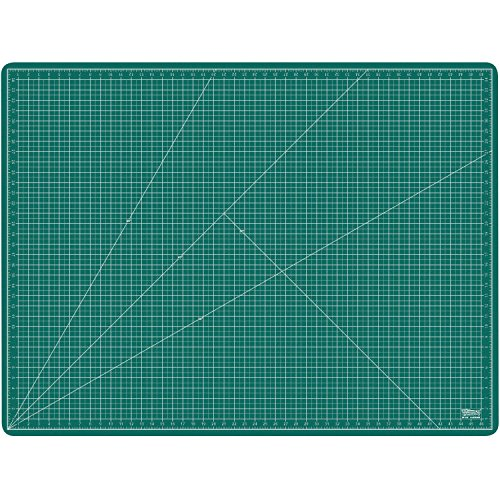 US Art Supply 36'' x 48'' GREEN/BLACK Professional Self Healing 5-Ply Double Sided Durable Non-Slip PVC Cutting Mat Great for Scrapbooking, Quilting, Sewing and all Arts & Crafts Projects (Choose Green/Black or Pink/Blue Below) by US Art Supply