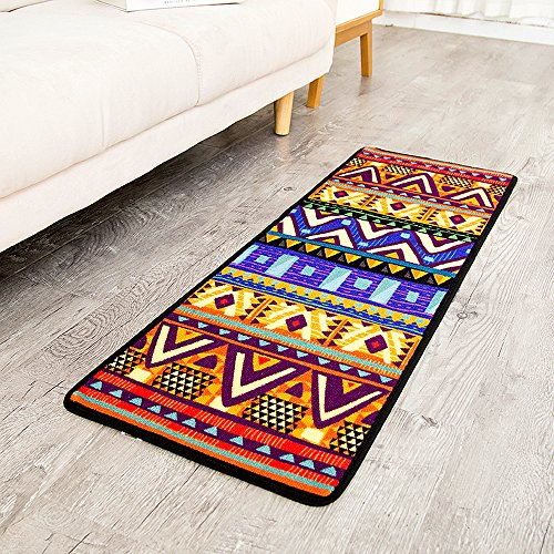 TideTex Ethnic Style Geometric Bedside Rug Runner Bedroom...
