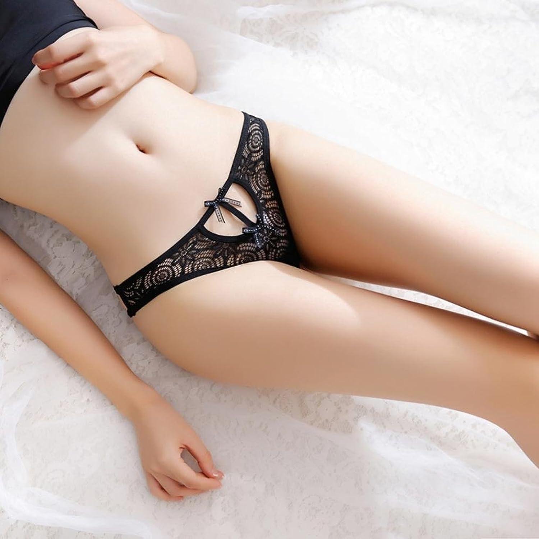 853f7b8b383f Amazon.com: Hunzed Women Sexy Lace Underwear Panties Brief Knickers G-string  Thongs Lingerie (Black): Clothing