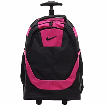 nike rolling backpack silver