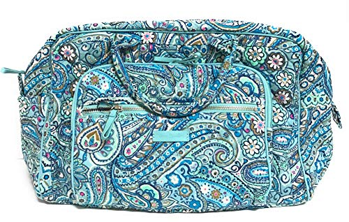 Vera Bradley Signature Cotton Compact Weekender, Daisy Dot Paisley (Weekender Bag Paisley)