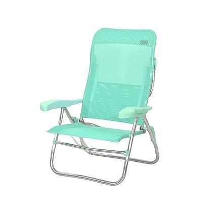 Crespo AL/223-M-06 - Silla-cama playa alta 7 pos.dural.(multifibra)