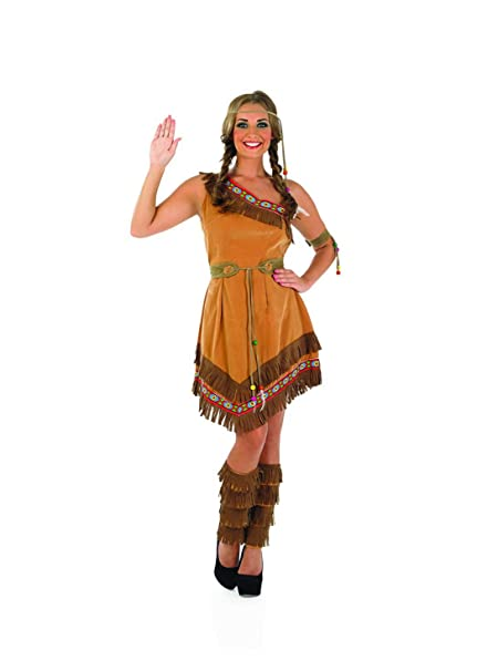 8fb34581e9 Fun Shack Adult Indian Squaw Costume - SMALL: Funshack: Amazon.co.uk: Toys  & Games