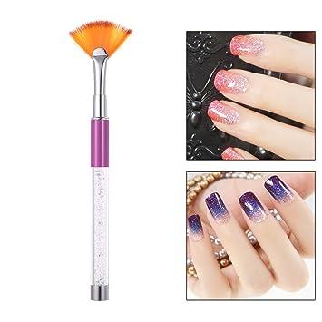 Anself Nail Art Pen Fan Brush Uv Gel Painting Design Pen Gradient