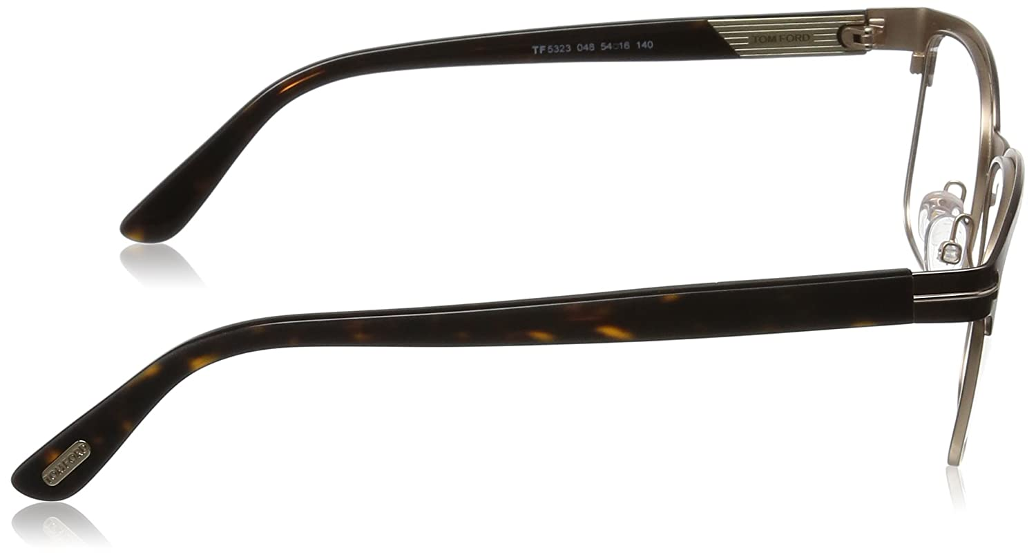 Tom Ford FT5323 Square Metal Optical Brown Rose Gold Eyeglasses TF5323 048 New