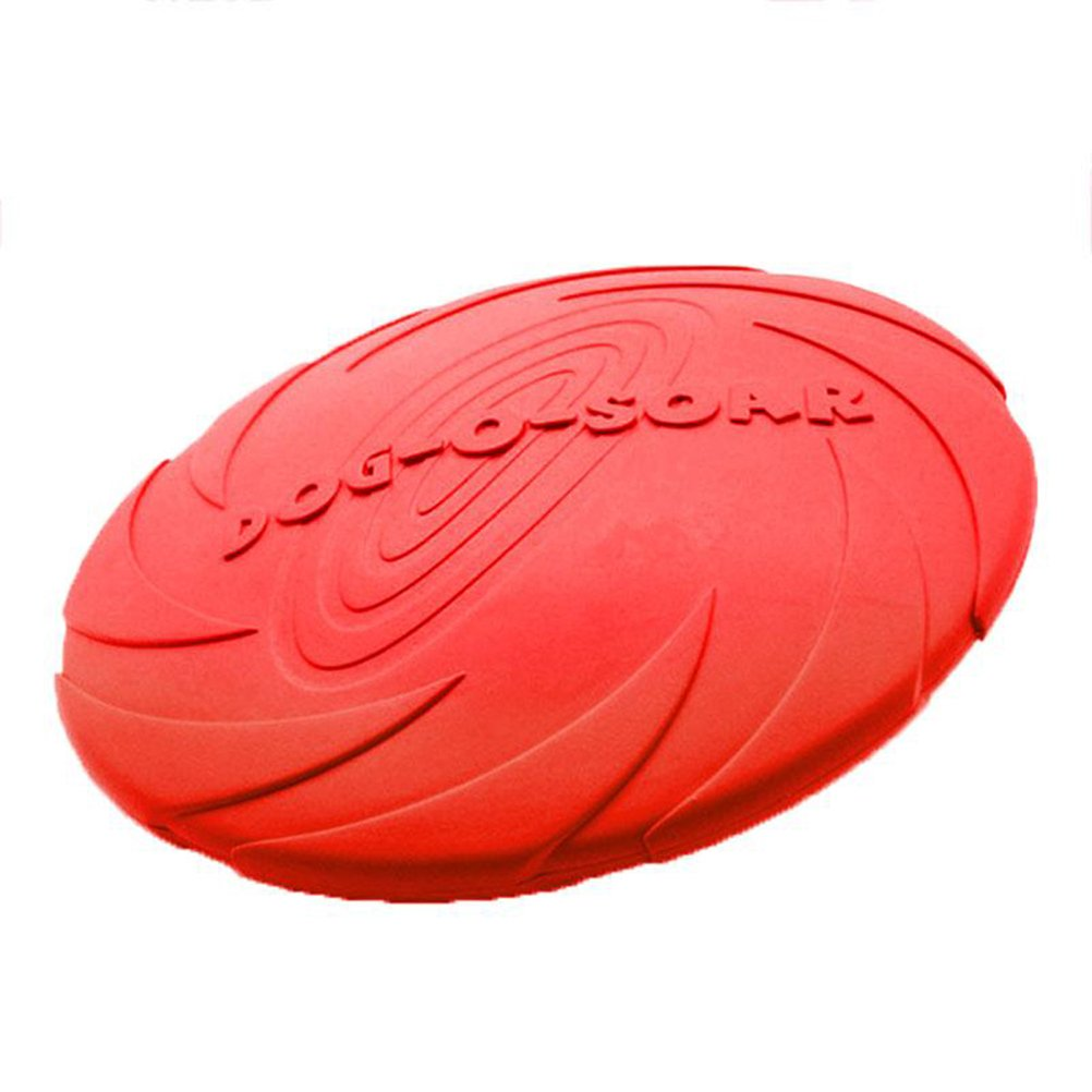 UEETEK Soft Safety Dog Frisbee,Toys Flying Discs,Dog Chew and Fetch Toy with Water Bowl Function for Dogs Pets - Size L(Red)