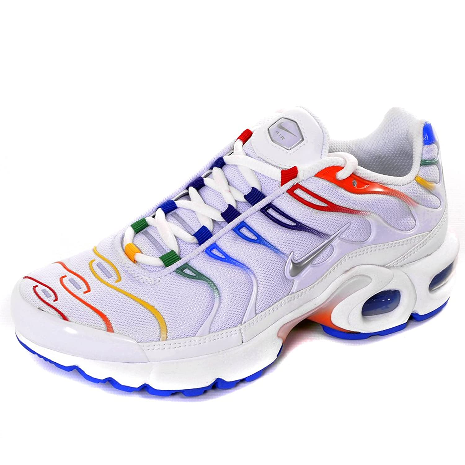 pretty nice d736f 859bb ... new zealand nike air max plus tn trainers white rainbow uk3.5 amazon  shoes bags