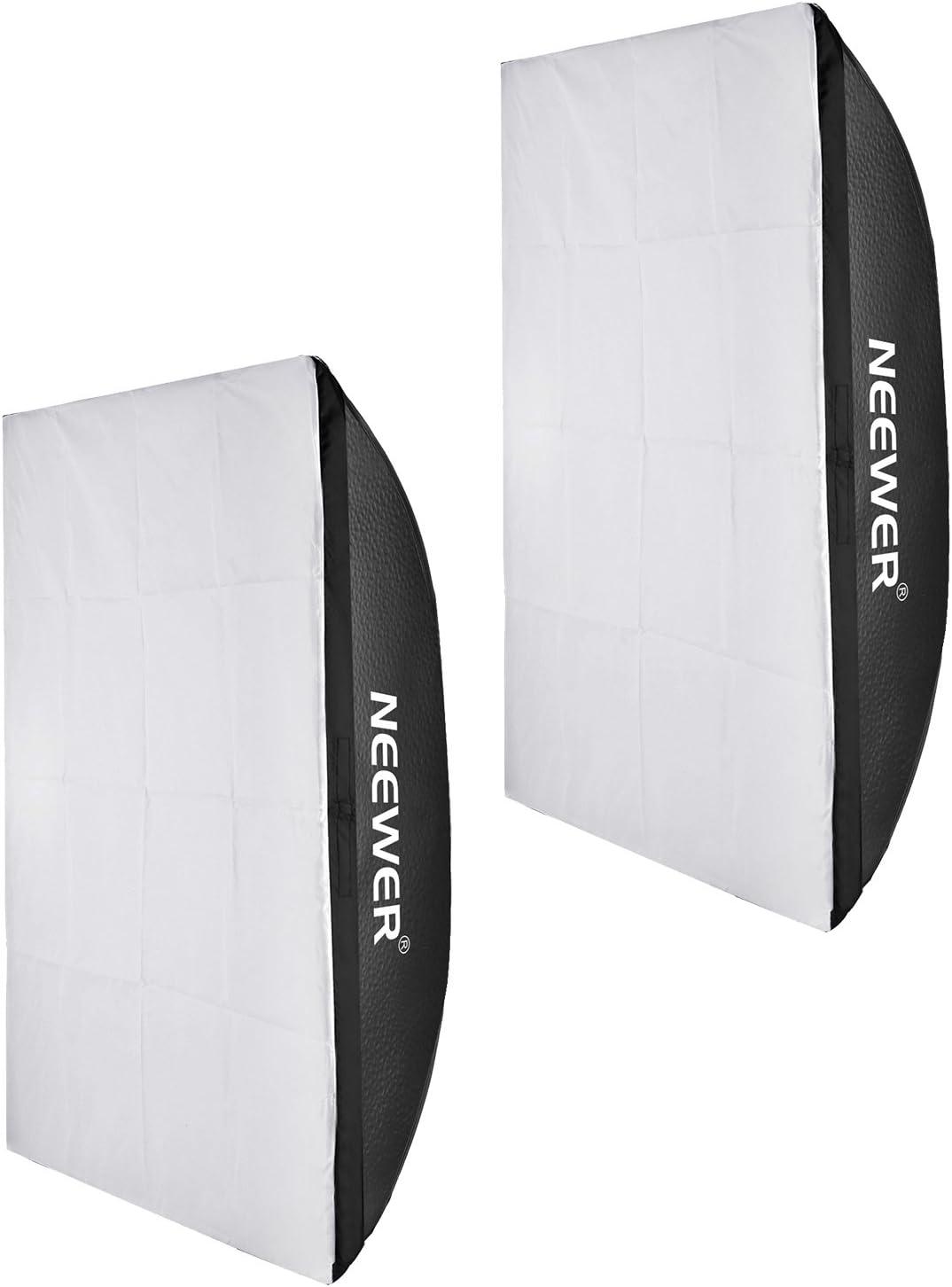 Neewer 2 Unidades de 50 cmX70 cm/20 X28 Cuadrado fotografía luz Tienda Fotos cúbico (Softbox Caja de luz Soporte Universal (Soft Box Solo, estroboscopio y luz trípode Son No Incluido): Amazon.es: Electrónica