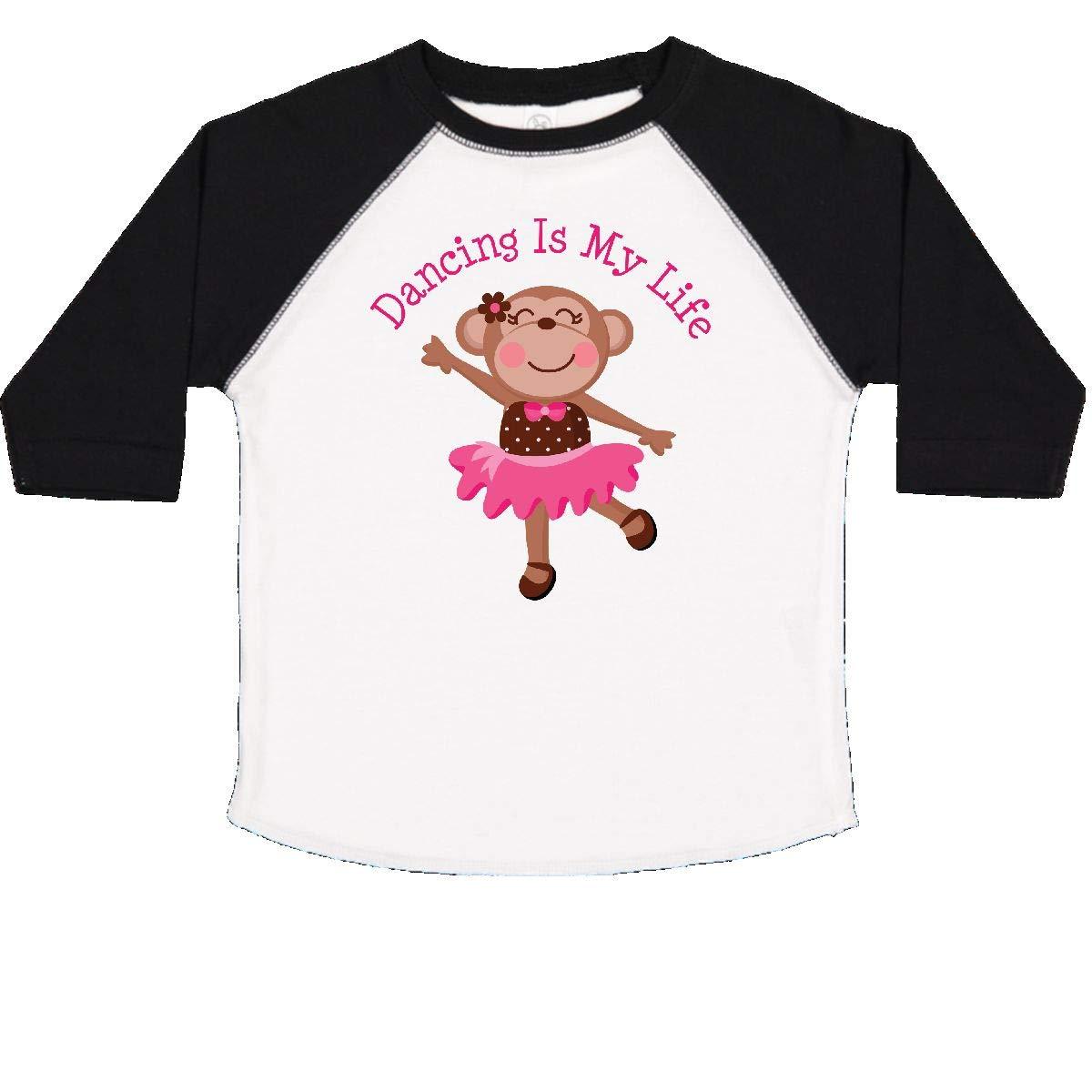 inktastic Dancing Monkey Girls Toddler T-Shirt