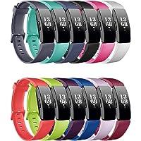 FunBand Compatibel met Fitbit Inspire & Fitbit Inspire HR armband, ademend, verstelbare vervanging, zachte siliconen…