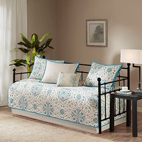 Madison Park Tissa Polyester Printed Daybed Set, 6 Piece