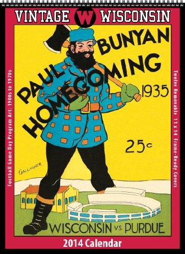 Wisconsin Badgers 2014 Vintage Football Calendar