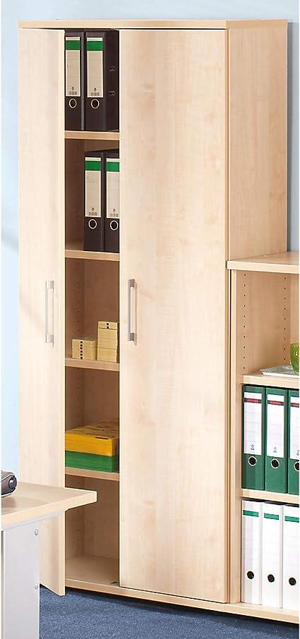 Armoire De Bureau En Bois Petra 1851 X 800 X 362 Mm Design Moderne Amazon Fr Fournitures De Bureau