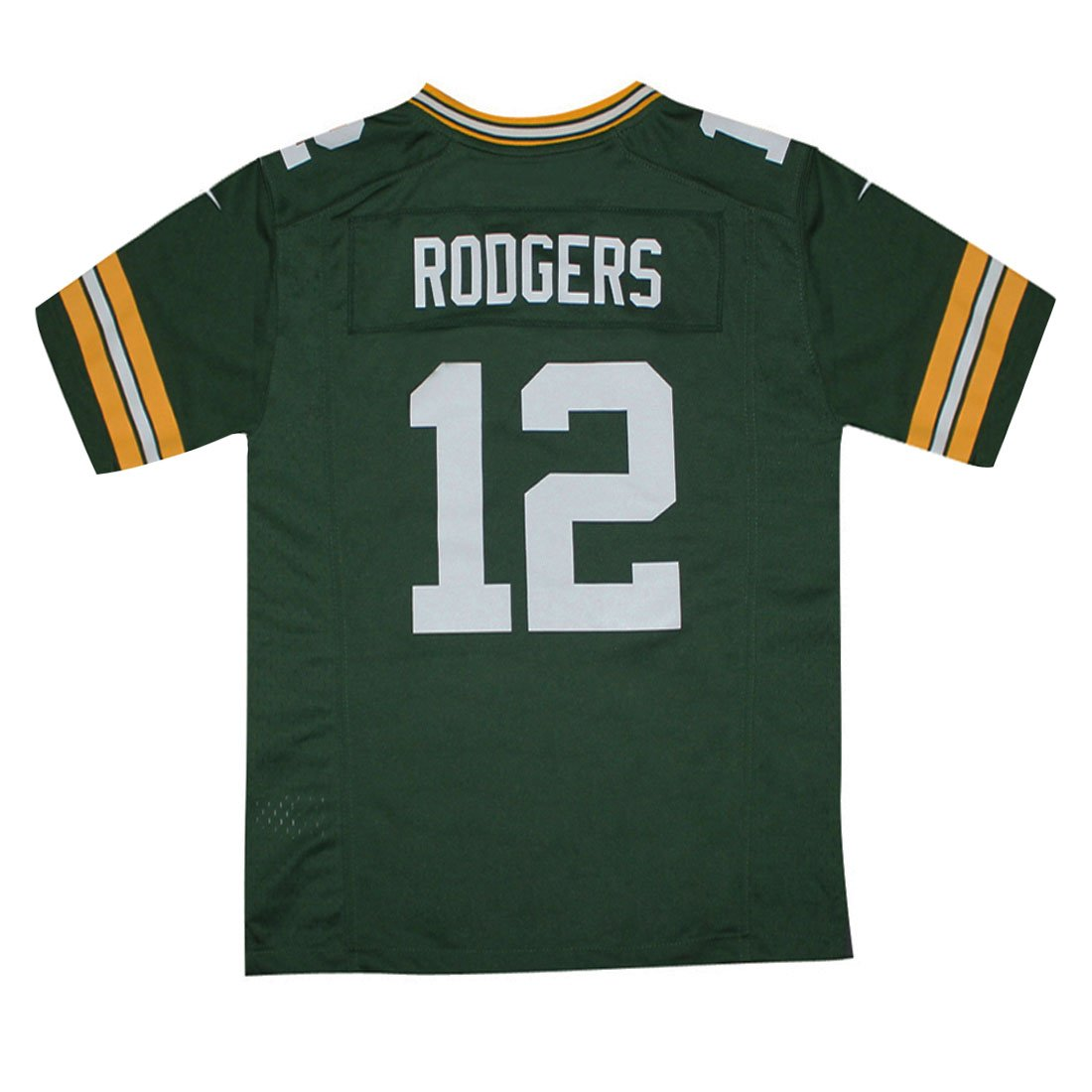 be9d8bed1 Amazon.com   GB Packers Rodgers  12 Youth Athletic Short Sleeve Jersey XL  Green   Sports   Outdoors