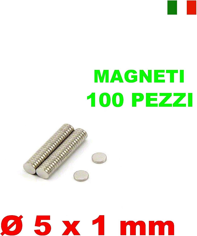 10 MAGNETI NEODIMIO 5X1 MM CALAMITA POTENTE FIMO CERAMICA MAGNETE CALAMITE