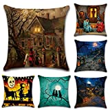 Halloween Square Decorative Throw Pillow Case Cushion Cover...