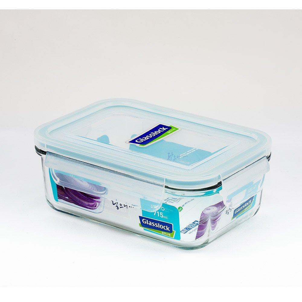 Glasslock Korea Airtight Break Resistant Glass Kitchen Food Storage Container, Lunch Box, Microwave Safe, 715 ml