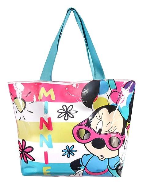 Minnie - Bolsa de playa Niñas rosa/azul Talla única: Amazon ...