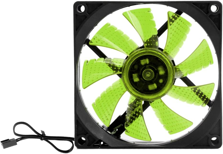 Kocome LED Light 3 pin 90mm PC Desktop Computer Case Cooling Cooler Fan Low Noise 9025 Green