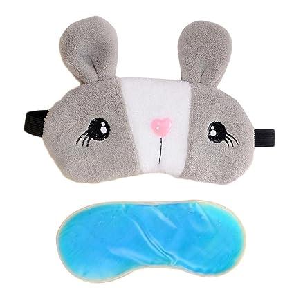 Lindo parche de máscara de conejo suave para tapar la nuca y dormir