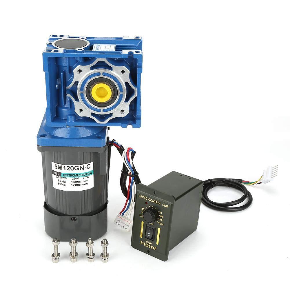 25K Riduttore Motoriduttore AC220V 120W Motoriduttore autobloccante a velocit/à variabile a vite senza fine CW//CCW con regolatore