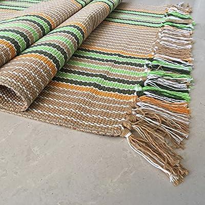 Amazon Com Hand Loomed Rag Rug Floor Mat Decorative