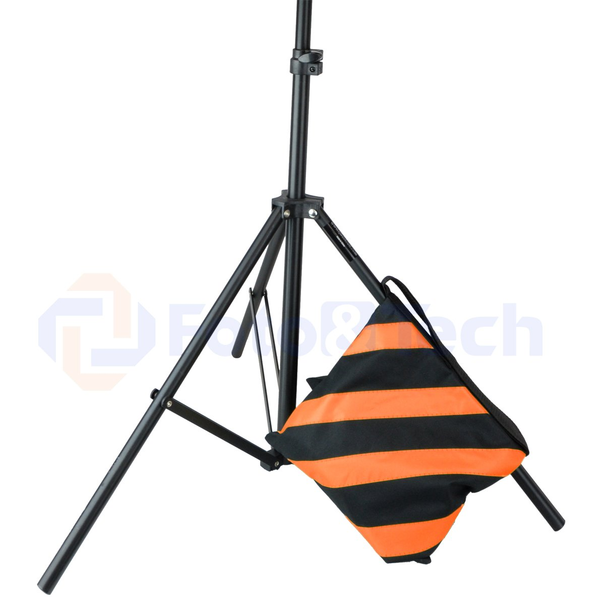 Foto/&Tech 4 Pack Water Resistant 600D Oxford Heavy Duty with Internal Metal Support Orange Sand Bag Weight Bags Saddle Bag Holds 20 LBS for photo video studio stand Tripod Indoor Outdoor
