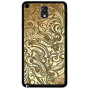 Luxurious Tan and Creme Baroque Pattern Hard Snap on Phone Case (Note 3 III)