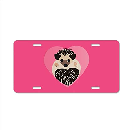 Keep Calm And Love Your Pug Black License Plate Frame Tag Holder