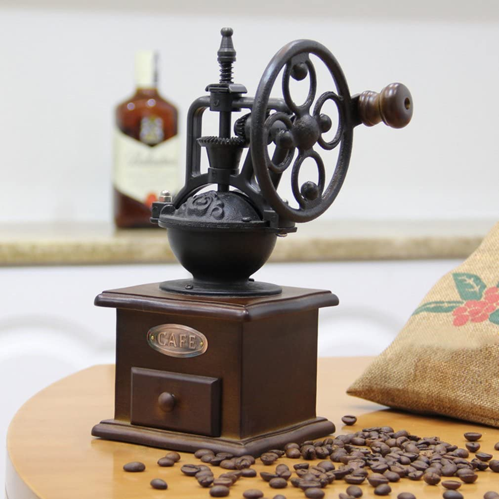 Gie/ßen Atyhao Kaffeem/ühle Nussbaum Kaffee Franz/ösische Presse und t/ürkische Kaffeebraun Kaffeebohnen Retro-Design Design f/ür Espresso