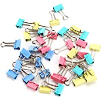 40pcs 19mm Metal Binder Clip Clamp for Home Office School, Assorted Colours