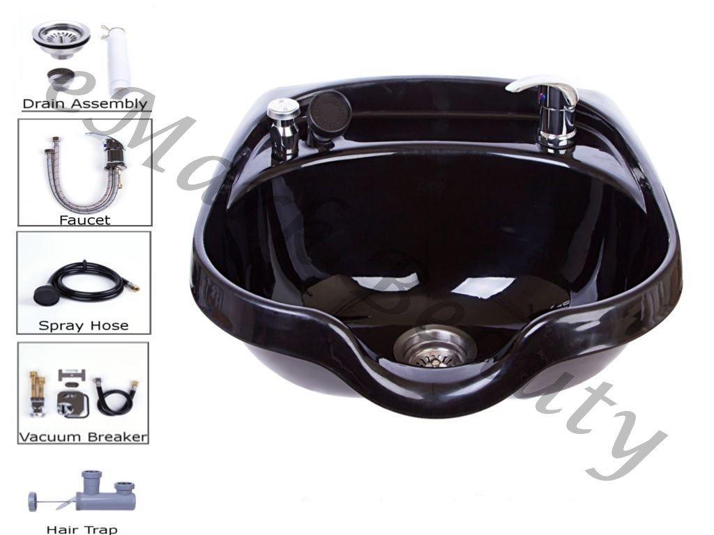 Beauty Shampoo Bowl Sink Beauty Salon Barber Shop Hair Styling Vacuum Towels TLC-1018 KRGT
