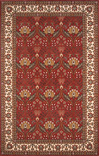 Momeni Rugs PERGAPG-12SAL5080 Persian Garden Collection, 100% New Zealand Wool Traditional Area Rug, 5' x 8', Salmon Red