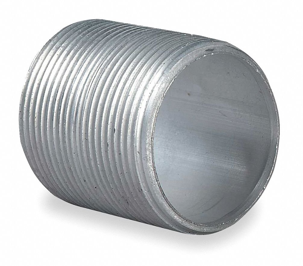 Nipple, Aluminum, Male to Male Connection, 1-1/2'' Conduit Size