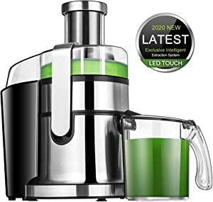 Juicer Extractor SOMOYA Juicer Easy to Clean, 2020 LCD Juice Machine High-Speed 800W Centrifugal Juicer, Juice and pulp Separation for Fruits & Vegetables