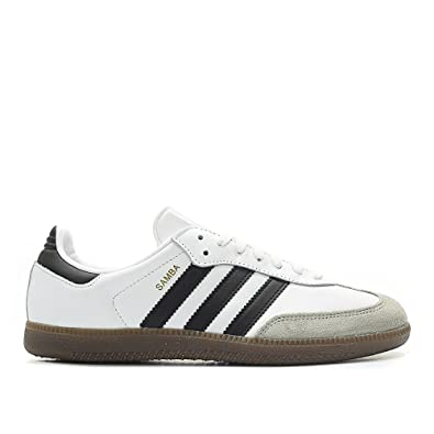 cc1aa0c54991d4 adidas Samba Originals Men s Shoes White Core Black Clear Granite bz0057 (8  D