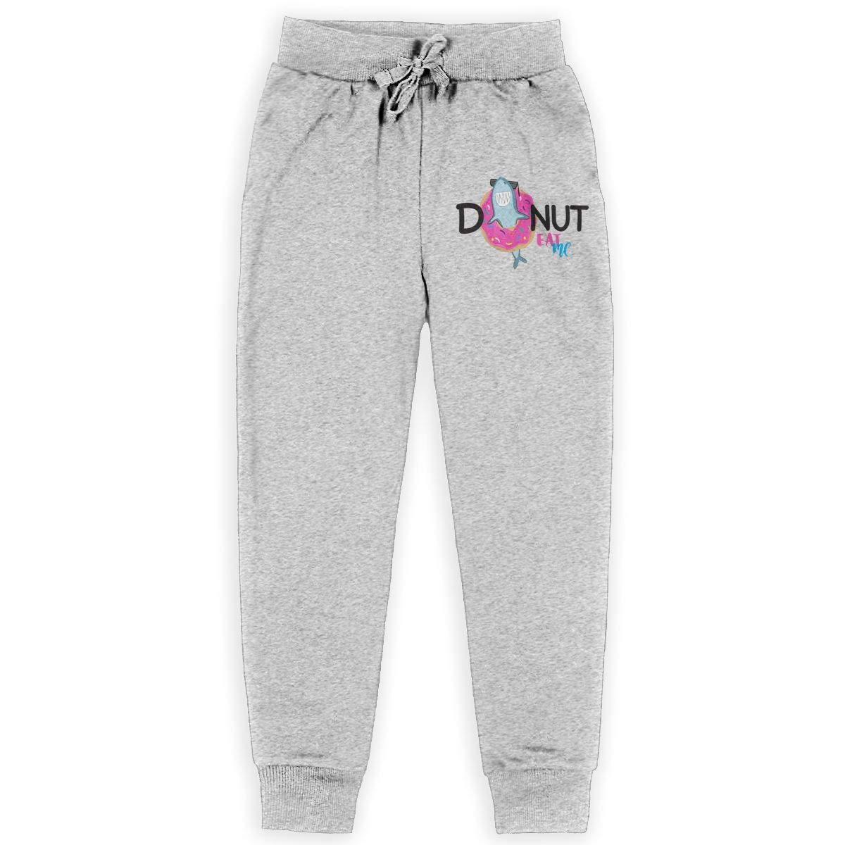 Xinding Youth Fashion Jogger Sweatpants Donut Eat Me Adjustable Waist Trousers with Pocket