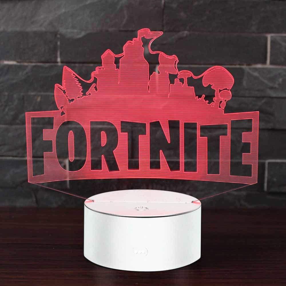 FORTNITE LED 3D Lamp Night Light 6 Colors Change Tables Desk Kids Xmas Gifts Hot