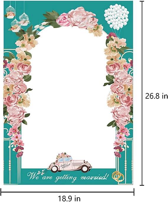 Idyandyans Wedding Day Carta Fotografica Cornice Fai da Te Puntelli Foto Booth favori di Nozze rifornimenti Anniversario Partito della Decorazione