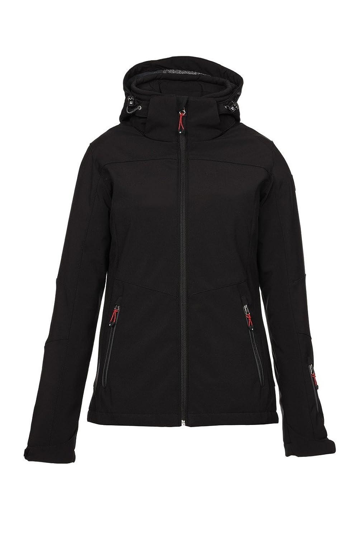 Killtec Damen Soft Shell Jacke mit abzipbarer Kapuze und Schneefang Darya
