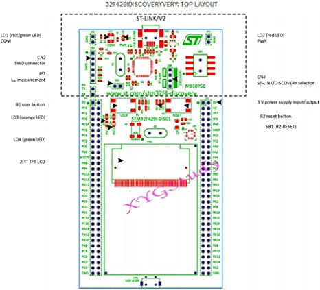ST STM32F429I-disco 1 descubrimiento Board STM32F429 con a bordo STM32F429ZIT6