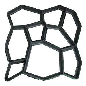 Carreguard DIY Molde Formar de Plástico Para Baldosas de Hormigón o Cemento Patios Jardín Pavimentación (43 x 43 x 4)