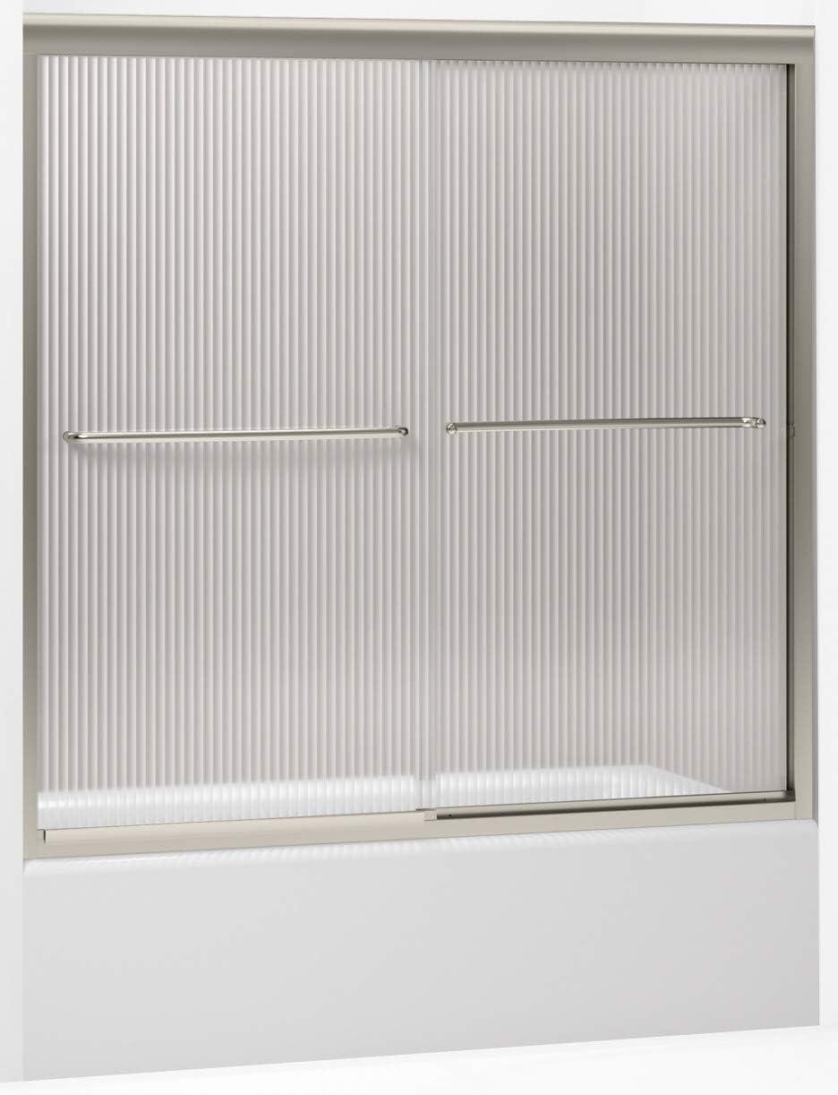 KOHLER K-702200-G54-MX Fluence Frameless Bypass Bath Door, Matte Nickel