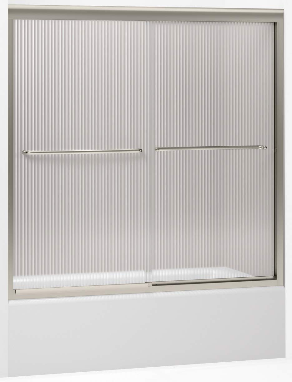 KOHLER K-702200-G54-MX Fluence Frameless Bypass Bath Door, Matte Nickel