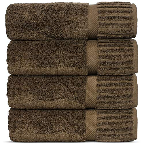 Spa Piece 4 Collection Home (Luxury Hotel-Spa Turkish Cotton 4-Piece Bath Towels (Cocoa))