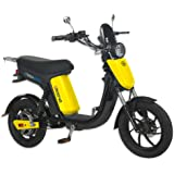 GIGABYKE GROOVE 48V 750W Eco-Friendly Electric Moped Scooter E-Bike- Yellow