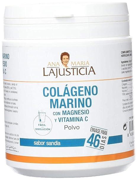 Ana Maria Lajusticia Colágeno Marino con Magnesio y Vitamina C con Sabor Sandia - 350 gr