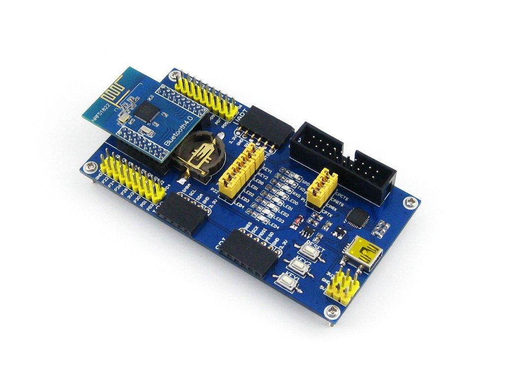 Waveshare BLE4.0 Bluetooth NRF51822 Module 2.4G Wireless Communication Module Transmitter Receiver Development Evaluation Kit for Arduino by Waveshare-Module