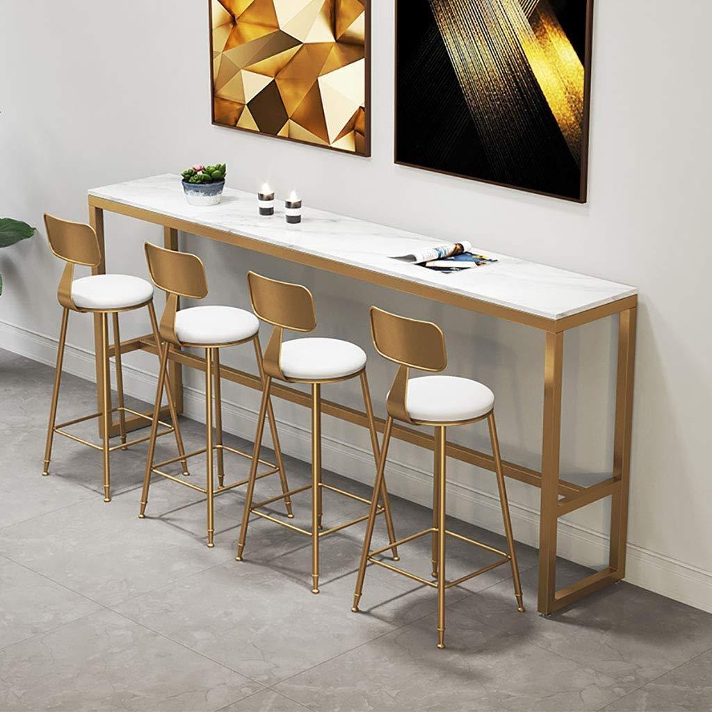Sgabelli da Bar con Schienale per Cucina Sedie Moderne per Sala da Pranzo Attesa Sgabello CONGMING-Sedie Cucina Sgabelli Alti in Metallo Dorato Cuscino in Velluto Rosa